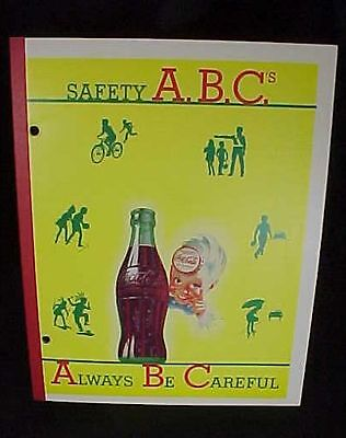 Vintage Coca Cola Coke Safety ABC's Blank Writing Notebook