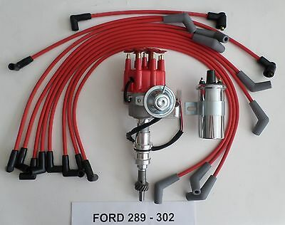 small block ford 289 302 blue small hei distributor 45k coil small block ford 289 302 red small hei distributor chrome coil spark plug