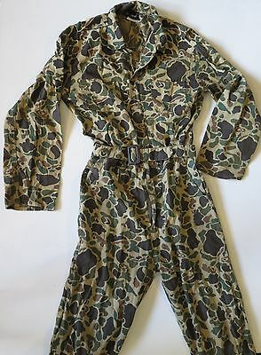 Mens  vintage Red Head camo camoflouge hunting cotton full body suit medium