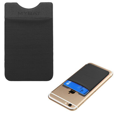 Universal Sticky Adhesive Credit Card Pouch Wallet Sleeve - Black