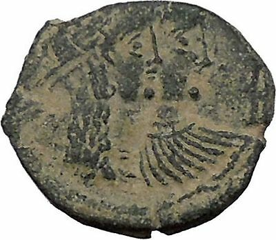 King Rabbel II Arab Caravan Kingdom of Nabataea 75AD Greek Type Coin i50401