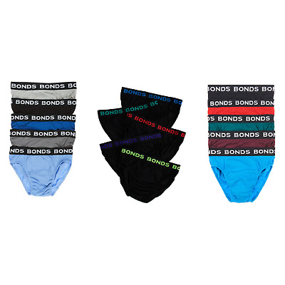Bonds Mens 5 Pack Hipster Underwear Men's Briefs Black Red Blue S M L Xl Xxl