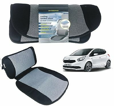 Car Lumbar Back Support Pillow & Seat Cushion Cooling Office Chair Home Comfort