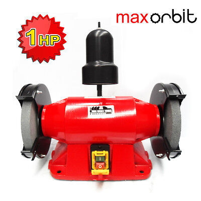 """Heavy Duty 200mm 8"""" Bench Grinder 1HP Large Motor 750W Power, Industrial Level"""