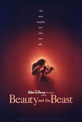 Beauty and the Beast Adv Orig Movie Poster 1Sided 27x40
