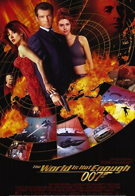 World Is Not Enough Intl Orig Movie Poster One Sided