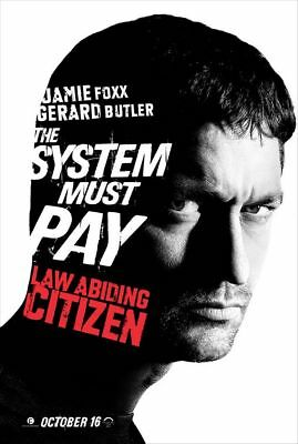 Law Abiding Citizen Butler Orig Movie Poster One Sided