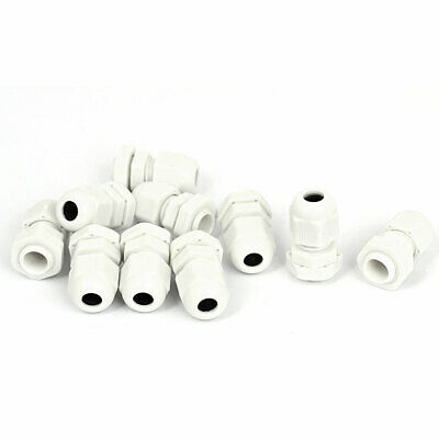 10pcs White PG7 3-6.5mm Waterproof Electrical Cable Gland Lead Connector Adapter