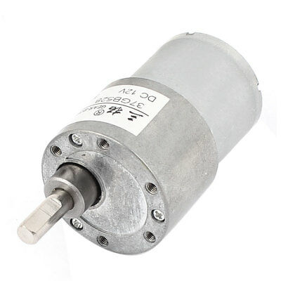 DC12V 38RPM 37mm Diameter High Torque DC Gear Box Reducer Variable Speed Motor