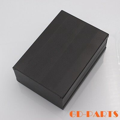 Full aluminum enclosure case Chassis Project box HIFI AMP DIY 106x55x155mm Black