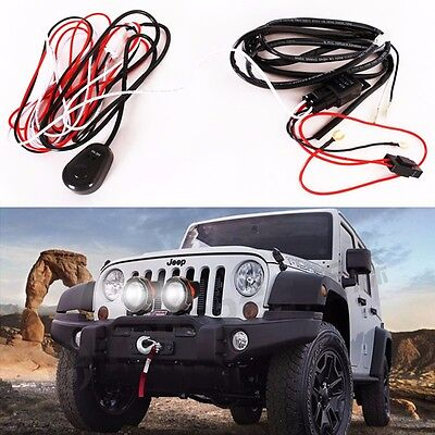 gooacc off road led light bar wiring harness kit 12v on off car auto led work driving lights wiring loom harness offroad light bar 10ft 12v