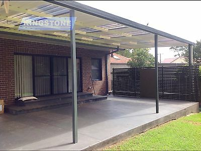 DIY Pergola/Patio Kit - 10m×3m - Flat Colorbond®+ Polycarbonate Roof