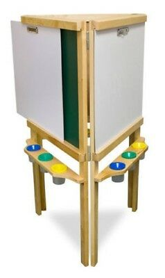 Sunbury children's wooden triple easel / drawing, painting, creating & learning