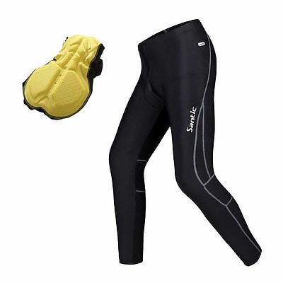 Men's Bicycle Cycling Pants Bike Padded Tights Cycling Pant Trousers S-3XL Black