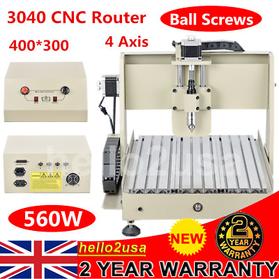 CNC 3040 Professional 4 AXIS Router H80mm Engraver PCB'S Routing Machine 560W