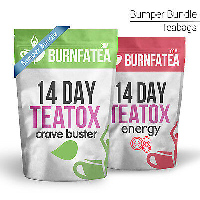 Burnfatea Teatox Bundle Combo Of 2 Crave Buster Or Energy Teatox