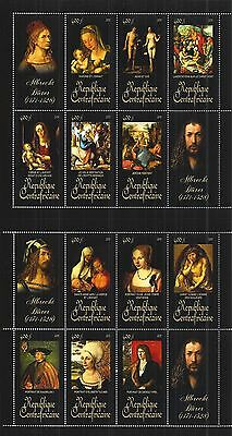 CENTRAL AFRICAN REPUBLIC 2011 SHEET SET MiNr: 3183 - 94 PAINTING DÜRER ALBRECHT