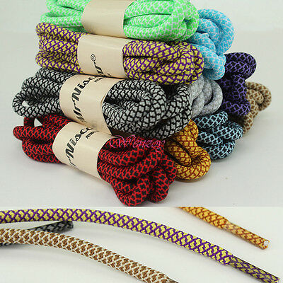 Colors Round Textured Sneaker Hiking Shoe Laces Bootlaces Climbing Boot Strings