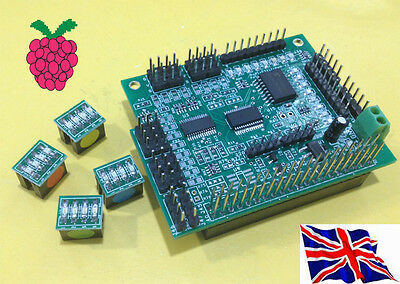 Rs-Pi i2c 16ch PMW Servo & 23017 16 GPIO Board w/ LED Kit for Raspberry Pi B+ B2