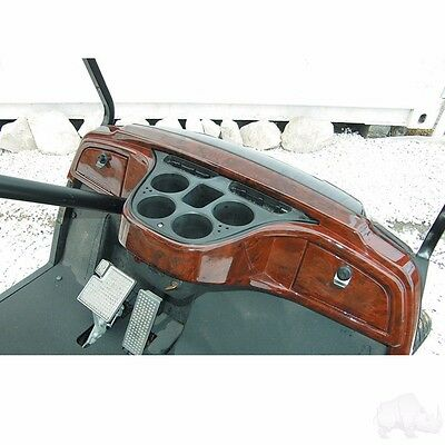 Yamaha Drive Golf Cart Car Dash Board Woodgrain 2 Locking Compartments