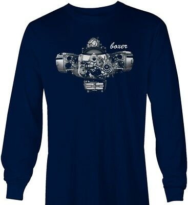 BMW Boxer Engine R1200GS RT 1200 R1200RT R1200R long sleeve navy tshirt 9799