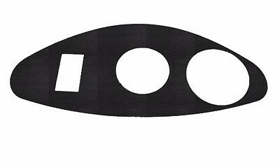 EZ-Go RXV Freedom Carbon Fiber Golf Cart Dash Cover Key/instrument Panel Plate