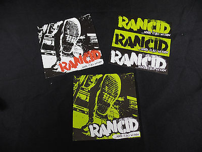 Set Of 3 Rancid Honor Is All We Know Metal Hard Punk Rock Promotional Stickers