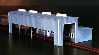 ATKINSON ENGINE FACILITY SHED Building 154x78x46mm N 1/160 scale Pikestuff 8008