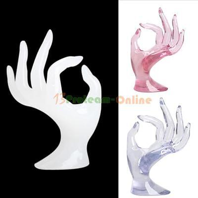 Jewelry Ring Bracelet Necklace Hanging Hand Display Holder Stand Show Rack Resin