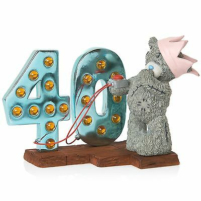 Me to You Light Up At 40 Birthday Figurine 40th Bday Jan 2016