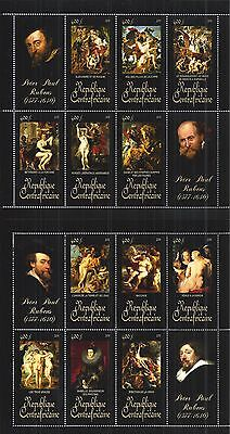 CENTRAL AFRICAN REPUBLIC 2011 SHEET SET MiNr: 3283 - 3294 ** PAINTING RUBENS