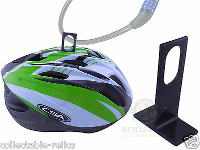 Bicycle Helmet Guard Lock Anti Theft For Cable D U Shackle Bike Cycling Helmets