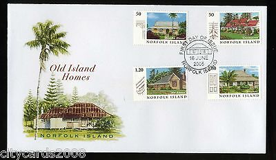 2005  NORFOLK ISLANDS  Old Island Homes  Illustrated FDC