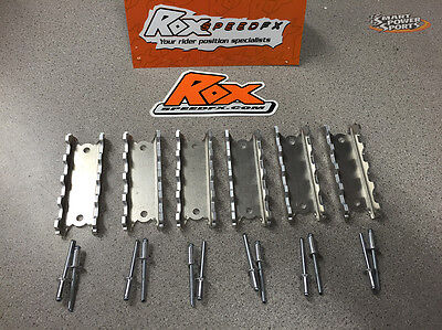 """ROX GRIP STRIP (6) 3"""" Snowmobile Running Board Traction Cleat - Universal"""