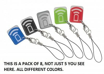 Dsc Neo Mpt Mini Security System Prox Tags Multiple Colors - 8 Pack