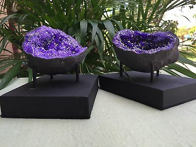 Display Stand For Gemstone Mineral Specimens Citrine Amethyst Geode Stand Prong