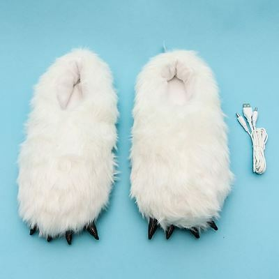 Yeti Heated Slippers Footwarmers Detachable USB Cable Unisex By Smoko