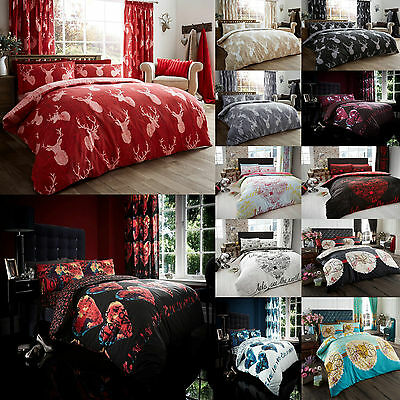 Duvet/Quilt Cover Set With Pillow Case Bedding Set Single Double King New Sets