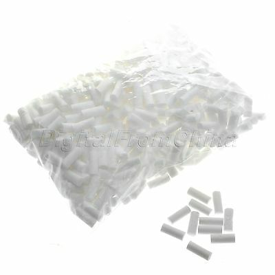 8*20mm White Tobacco Smoking Cigarette With Sponge Head Filters Core 500pcs/Pack