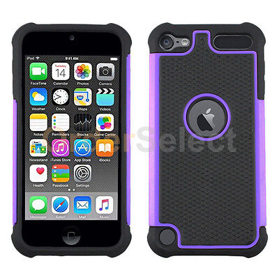 NEW Hybrid Rugged Rubber Matte Hard Case Skin for Apple iPod Touch 6 Purple HOT!