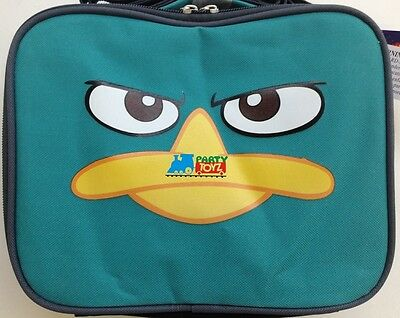 Phineas and Ferb Agent P Perry Face Insulated Lunch Box Bag Container sandwich