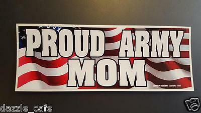 Proud Army Mom Proud Parent Bumper Sticker Decal DC 033