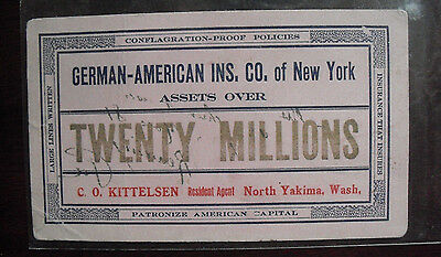 Vintage 1910s Era German American Insurance Co of New York Car or Blotter