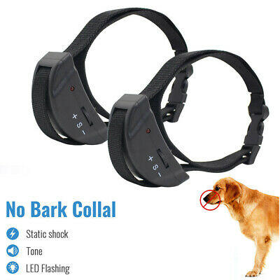 Petrainer 2XAnti Bark No Bark Collar Dog Training Shock Collar Pet Collar 2 Dogs