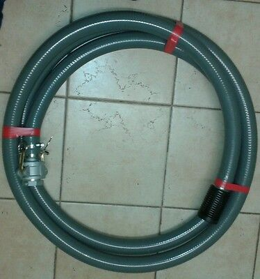 Firefighting pump suction hose 1.5 inch (40mm) x 5m with camlocks