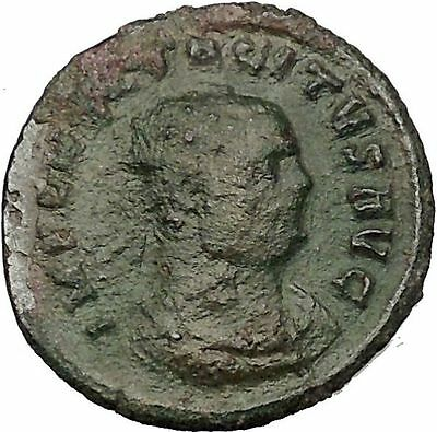 Tacitus receiving wreath from Victory Rare 275AD  Ancient Roman Coin  i52712