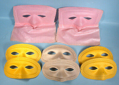1950s or Earlier Halloween 8 Vintage Masquerade Party Masks Formed Pressed Cloth