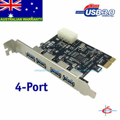 USB 3.0 PCI-Express Card for Desktop PC - 4 Ports, Self-Powered