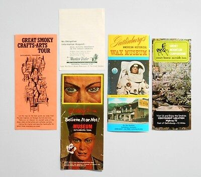 Vintage 1970's Tennessee Gatlinburg Wax & Ripley Museums Pamphlets/Brochures