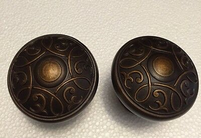 Two Ornate Beautiful Pulls For Drawers Or Doors - Door Knob Hardware